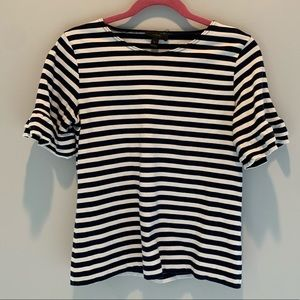 Jcrew navy and white striped t shirt size S